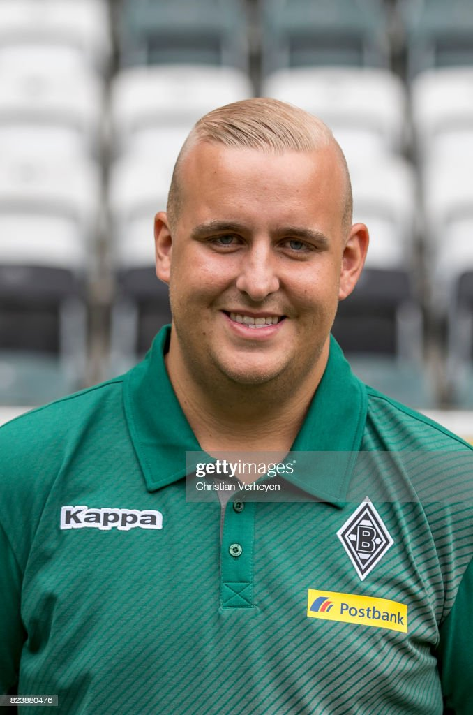 Christian Rieger pose during the team presentation of Borussia Moenchengladbach at Borussia-Park on July 28, 2017 in Moenchengladbach, Germany.