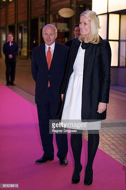 Christian Ringnes and Crown Princess MetteMarit of Norway attend a charity gala on October 29 2009 in Oslo Norway