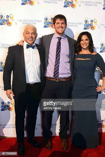 Christian Rivera Foundation boardmember Andy Epstein honoree Brandon Standon and WNBC News anchor Darlene Rodriguez attend the 8th Annual Christian...