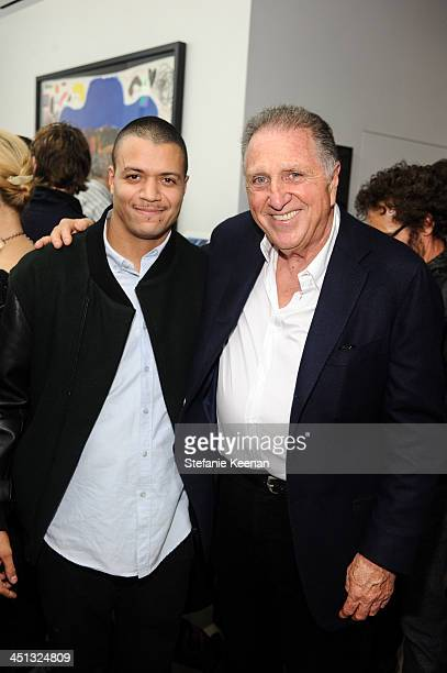 Christian Rosa and Stanley Hollander attend The Rema Hort Mann Foundation LA Artist Initiative Benefit Auction on November 21 2013 in Los Angeles...