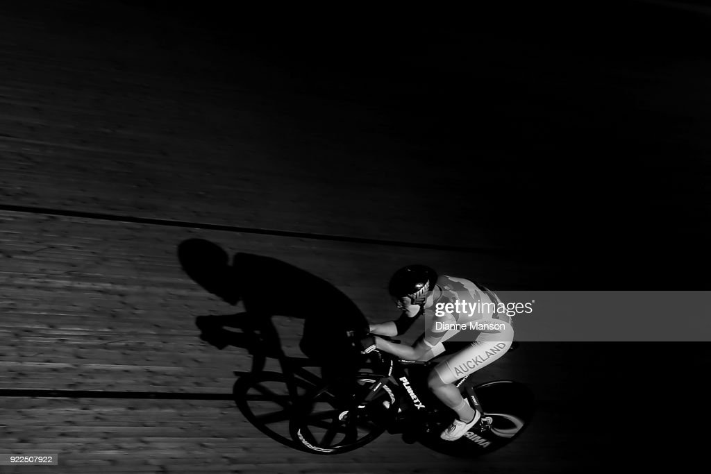 Christian Rush of Auckland competes in the U19 Men 3000m IP during the New Zealand Track Cycling Championships on February 22, 2018 in Invercargill, New Zealand.