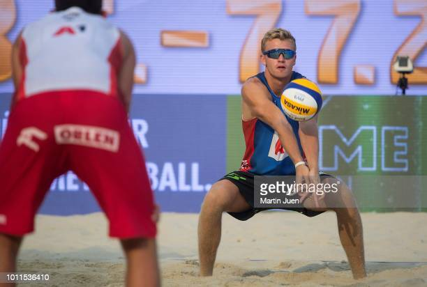 Christian Sandlie Sorum from Norway during final match between Piotr Kantor of Poland and Bartosz Losiak of Poland and Anders Berntsen Mol of Norway...
