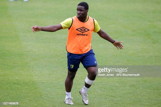 Christian Saydee of Bournemouth during a pre-season training session at Vitality Stadium on July 07, 2021 in Bournemouth, England.