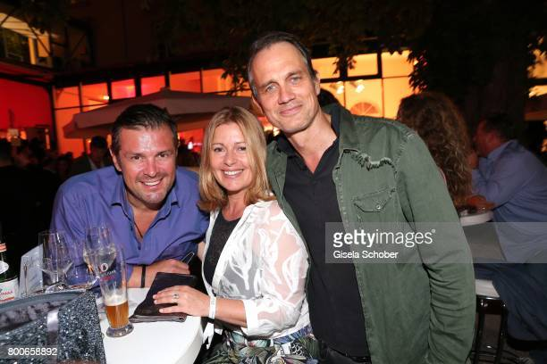 Christian Schaeffer Karin Thaler and Ralf Bauer during the 'Audi Director's cut' Party during the Munich film festival at Praterinsel on June 24 2017...