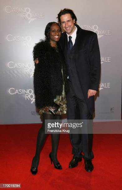 Christian Schenk and friend Dawn Maria Brown at the premiere of One On One Heart in Cinestar at Potsdamer Platz Berlin