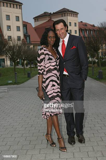 Christian Schenk and girlfriend Dawn Maria Brown In The Party At The Foundation Of A Pink Golf Club in Sport Spa Resort ARosa Scharmützel In Bad...