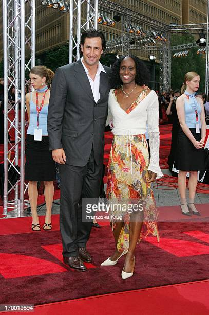 Christian Schenk And Girlfriend In Europe At The Premiere Of War Of The Worlds In the theater at Potsdamer Platz Berlin