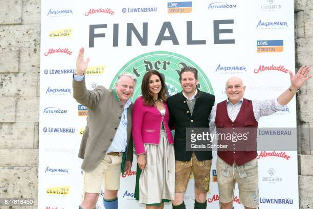 Christian Schottenhamel Karen Webb Philip Greffenius Edition Sportiva and Dr Axel Munz Angermaier Trachten during the 'Nacht der Tracht Finale' press...