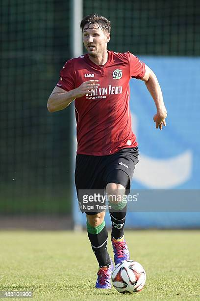 Christian Schulz of Hanover controls the ball at Hannover 96 training camp on August 2 2014 in Mureck Austria