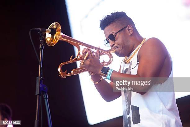 Christian Scott at the Chicago Jazz Festival at the Pritzker Pavilion in Millenium Park in Chicago Illinois September 4 2016