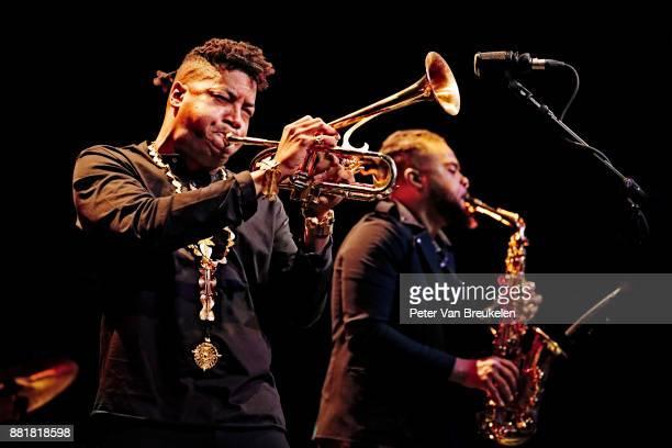 Christian Scott aTundje Adjuahaf and Logan Richardson perform at Lantaren Venster on November 19 2017 in Rotterdam Netherlands