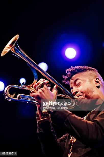 Christian Scott aTundje Adjuahaf performs at Lantaren Venster on November 19 2017 in Rotterdam Netherlands