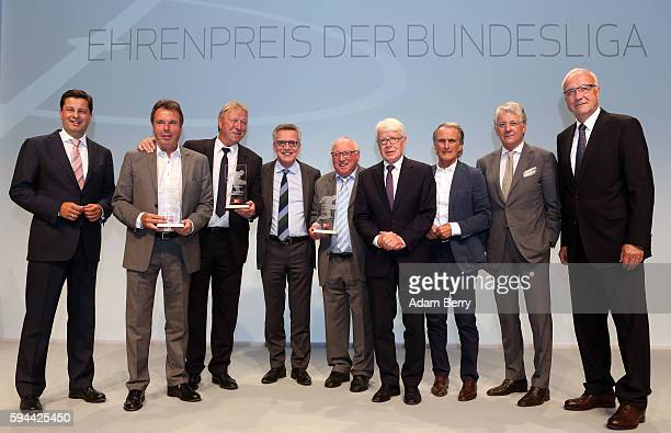 Christian Seifert chairman of the board of the German Football League Association Heribert Bruchhagen chairman of Eintracht Frankfurt Fussball AG...