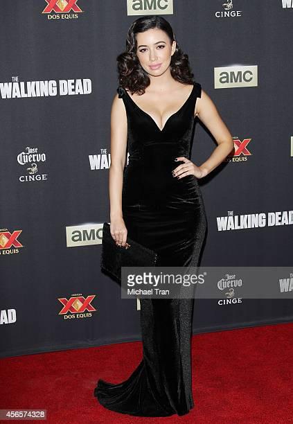 Christian Serratos arrives at AMC's 'The Walking Dead' Season 5 Premiere held at AMC Universal City Walk on October 2 2014 in Universal City...