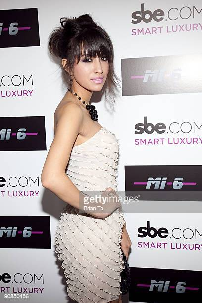 Christian Serratos attends Mi6 Nightclub Grand Opening Party on September 15 2009 in West Hollywood California