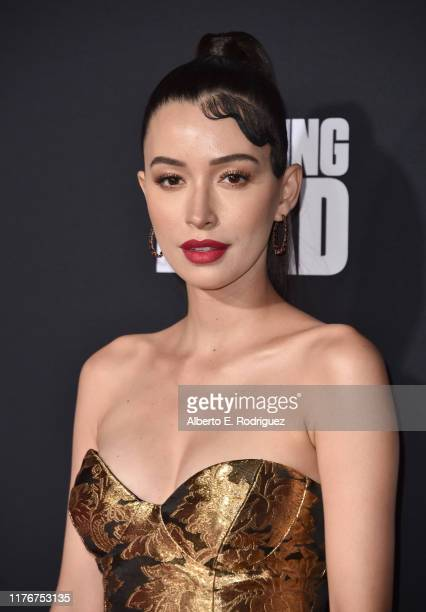 Christian Serratos attends the Season 10 Special Screening of AMC's The Walking Dead at Chinese 6 Theater– Hollywood on September 23 2019 in...