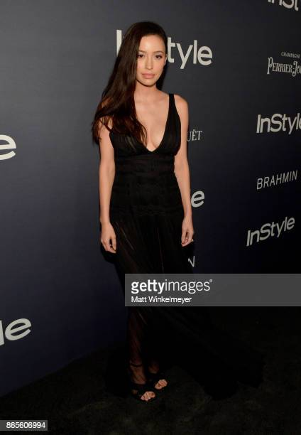Christian Serratos attends the Third Annual InStyle Awards presented by InStyle at The Getty Center on October 23 2017 in Los Angeles California
