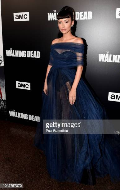 Christian Serratosattends the premiere of AMC's The Walking Dead season 9 at DGA Theater on September 27 2018 in Los Angeles California