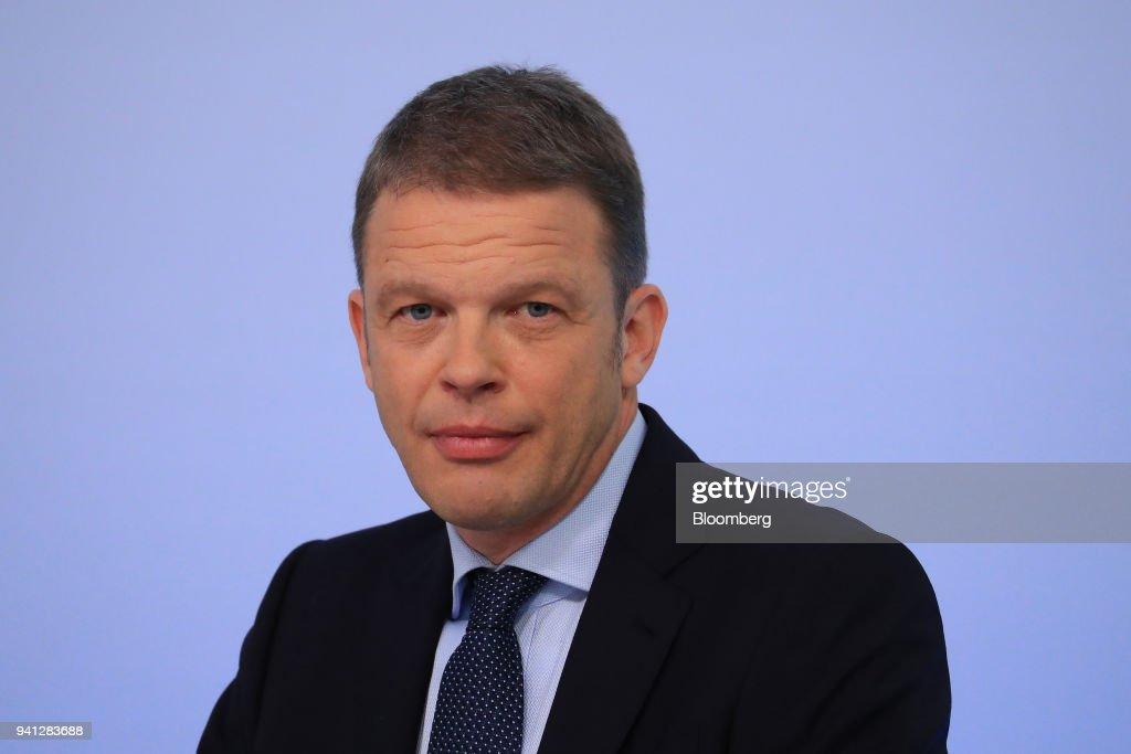Christian Sewing, management board member of Deutsche Bank AG, looks on during the bank's earnings news conference in Frankfurt, Germany, on Thursday, Feb. 2, 2017. Deutsche Bank AG is considering candidates to potentially replace Chief Executive Officer John Cryan amid heightened tensions between him and Supervisory Board Chairman Paul Achleitner, the Times of London reported without saying where it got the information. The bank approached Richard Gnodde, the head of Goldman Sachs Group Inc.s international operations, but hes thought to have spurned the overture, the newspaper said. Deutsche Bank also considered UniCredit SpA CEO Jean Pierre Mustier and Standard Chartered Plc CEO Bill Winters, according to the report. Our editors select the best archive images for the Deutsche story. Photographer: Krisztian Bocsi/Bloomberg via Getty Images
