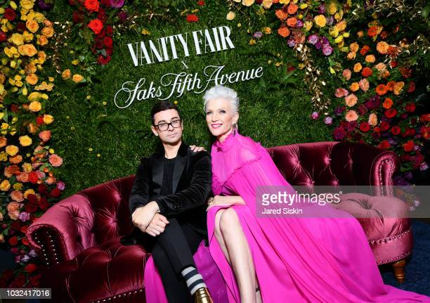 Christian Sirano and Maye Musk attend as Vanity Fair and Saks Fifth Avenue celebrate Vanity Fair's BestDressed 2018 at Manhatta on September 12 2018...