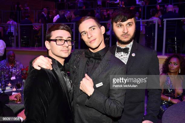 Christian Siriano Adam Rippon and Brad Walsh attend the 2018 TIME 100 Gala at Jazz at Lincoln Center on April 24 2018 in New York City