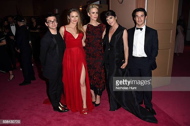 Christian Siriano Alicia Silverstone Sarah Paulson Selma Blair and Joseph Altuzarra attend the 2016 CFDA Fashion Awards at the Hammerstein Ballroom...