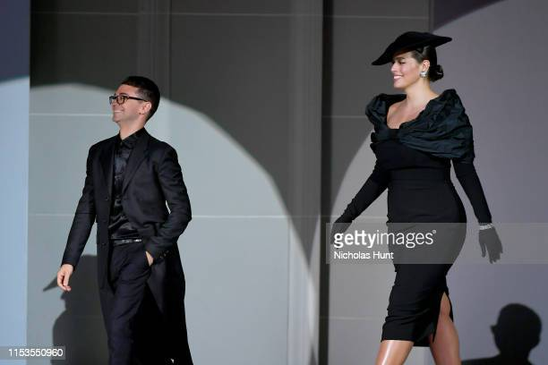 Christian Siriano and Ashley Graham appear onstage during the CFDA Fashion Awards at the Brooklyn Museum of Art on June 03 2019 in New York City
