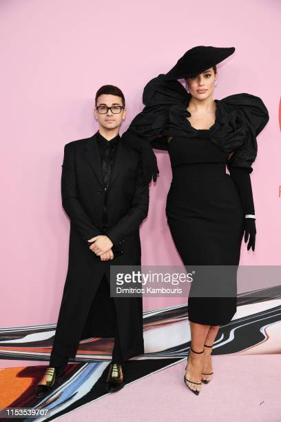 Christian Siriano and Ashley Graham attend the CFDA Fashion Awards at the Brooklyn Museum of Art on June 03 2019 in New York City