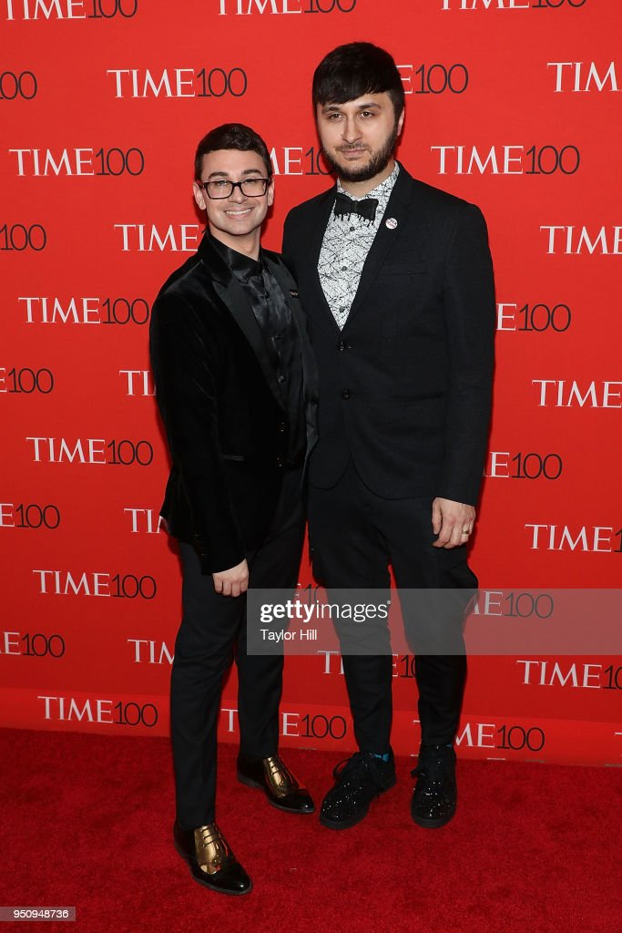 Christian Siriano and Brad Walsh attend the 2018 Time 100 Gala at Frederick P. Rose Hall, Jazz at Lincoln Center on April 24, 2018 in New York City.