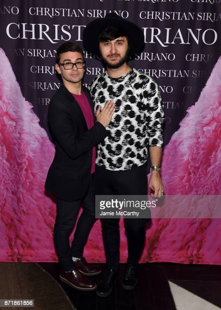 Christian Siriano and Brad Walsh celebrate the release of his book 'Dresses To Dream About' at the Rizzoli Flagship Store on November 8 2017 in New...