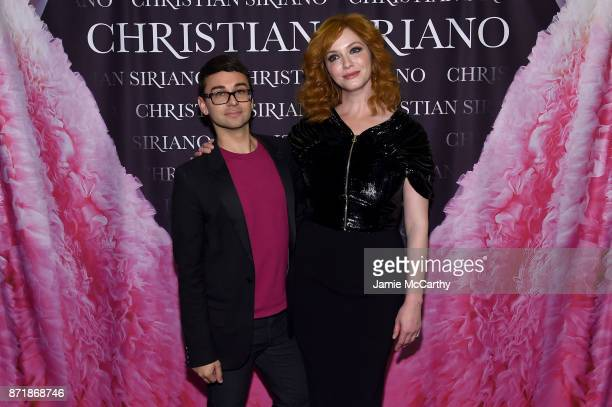 Christian Siriano and Christina Hendricks celebrate the release of his book 'Dresses To Dream About' at the Rizzoli Flagship Store on November 8 2017...