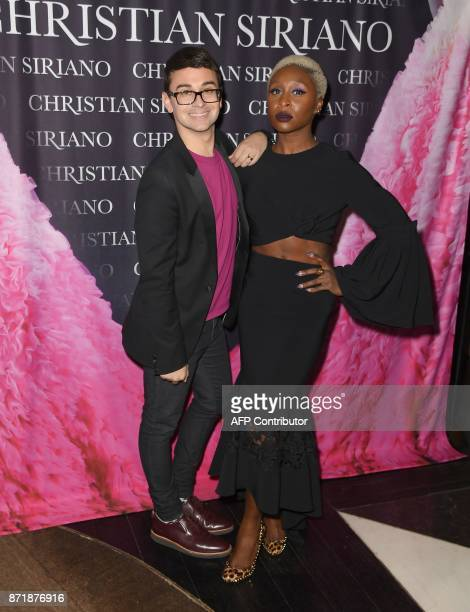 Christian Siriano and Cynthia Erivo attend the release celebration of his book 'Dresses To Dream About' at the Rizzoli Flagship Store on November 8...