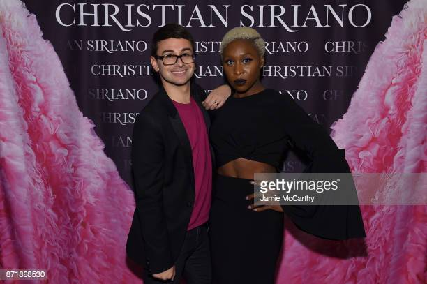 Christian Siriano and Cynthia Erivo celebrate the release of his book 'Dresses To Dream About' at the Rizzoli Flagship Store on November 8 2017 in...