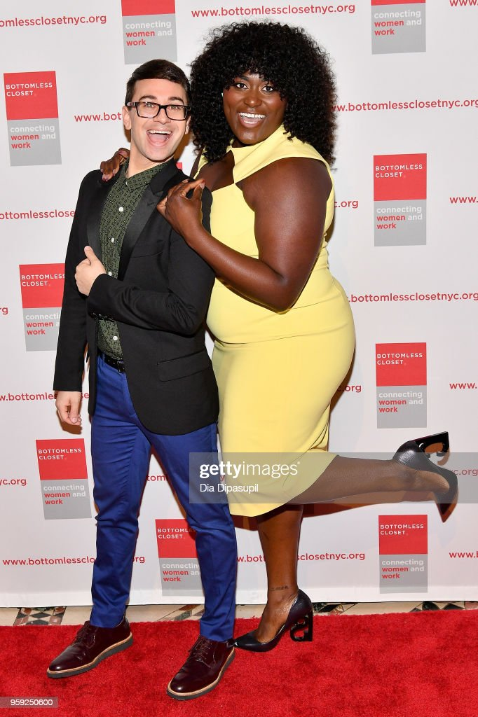 Christian Siriano and Danielle Brooks attend the Bottomless Closet's 19th Annual Spring Luncheon on May 16, 2018 in New York City.