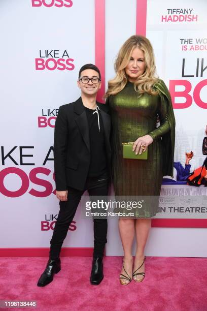 Christian Siriano and Jennifer Coolidge attend the world premiere of Like A Boss at SVA Theater on January 07 2020 in New York City