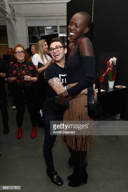 Christian Siriano and Mari Agory attend Brad Walsh 'Antiglot' performance and album release party at Pier 59 Studioson October 5 2017 in New York City