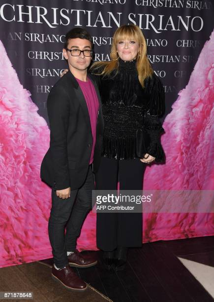 Christian Siriano and Natasha Lyonne attend the release celebration of his book 'Dresses To Dream About' at the Rizzoli Flagship Store on November 8...