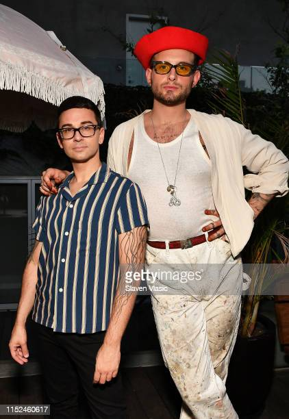 Christian Siriano and Nico Tortorella attend Adore Me x Pride 2019 hosted By Gigi Gorgeous at Gitano on June 27 2019 in New York City