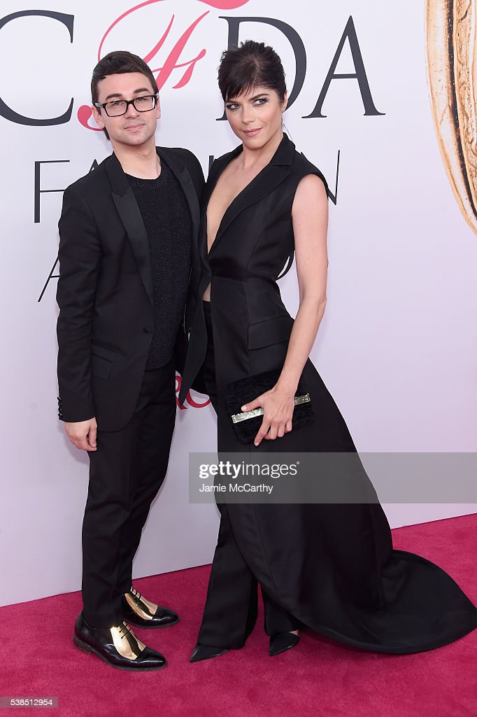 Christian Siriano and Selma Blair attend the 2016 CFDA Fashion Awards at the Hammerstein Ballroom on June 6, 2016 in New York City.