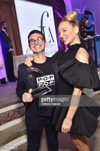 Christian Siriano and Sia attend The Daily Front Row Fashion LA Awards 2019 on March 17 2019 in Los Angeles California