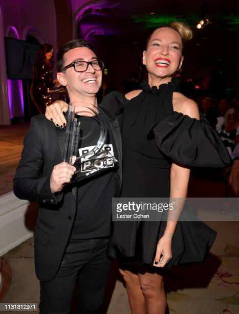Christian Siriano and Sia with FIJI Water at the 5th Annual Fashion Los Angeles Awards on March 17 2019 in Los Angeles California