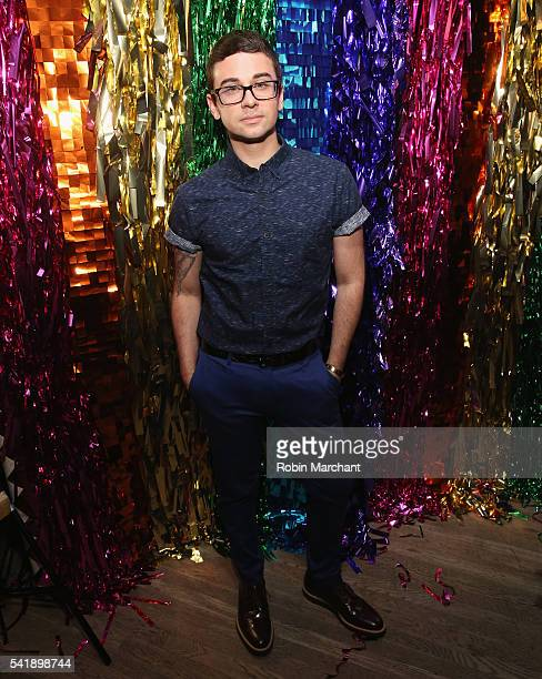 Christian Siriano attends American Express Launches National LGBTQ PRIDE Campaign To Express Love at The Spotted Pig on June 20 2016 in New York City