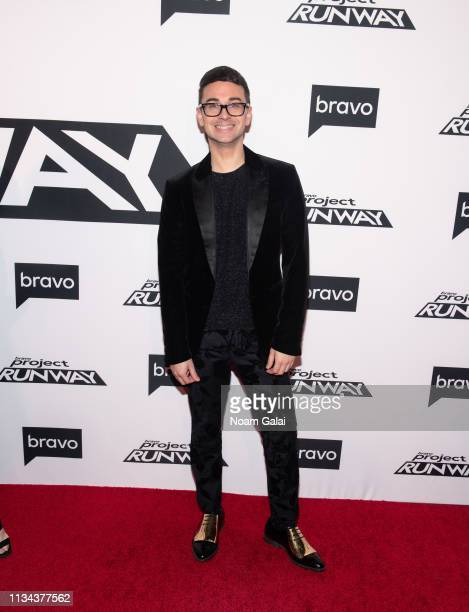 Christian Siriano attends Bravo's Project Runway New York Premiere at Vandal on March 07 2019 in New York City