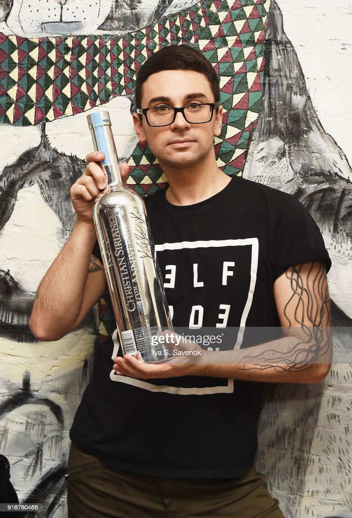 Christian Siriano attends Christian Siriano NYFW 10th Anniversary Collection after party with Belvedere Vodka at Moxy Hotel on February 10, 2018 in New York City.