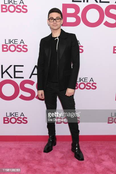 Christian Siriano attends the world premiere of Like A Boss at SVA Theater on January 07 2020 in New York City