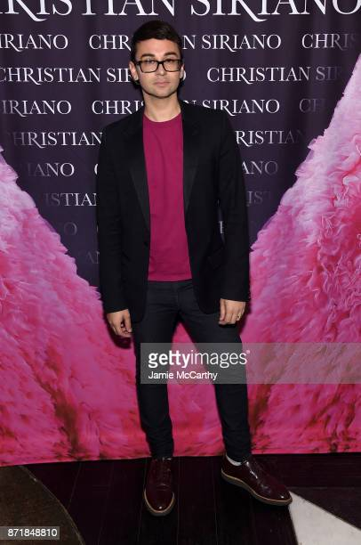 Christian Siriano celebrates the release of his book 'Dresses To Dream About' at the Rizzoli Flagship Store on November 8 2017 in New York City