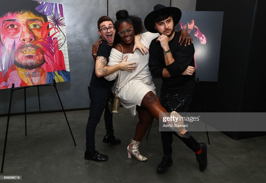 Christian Siriano, Danielle Brooks and Brad Walsh attend Brad Walsh 'Antiglot' performance and album release party at Pier 59 Studios on October 5, 2017 in New York City.