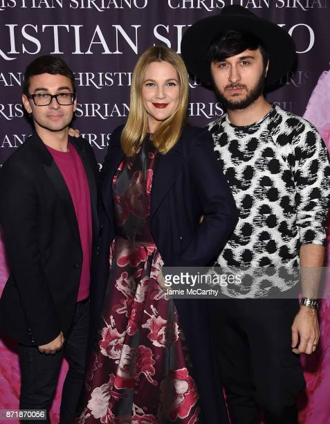 Christian Siriano Drew Barrymore and Brad Walsh celebrate the release of his book 'Dresses To Dream About' at the Rizzoli Flagship Store on November...