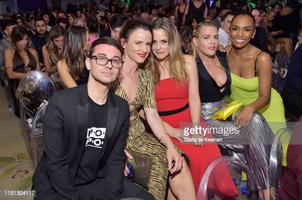 Christian Siriano Juliette Lewis Alicia Silverstone Busy Philipps and Janet Mock attend The Daily Front Row Fashion LA Awards 2019 on March 17 2019...