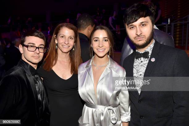 Christian Siriano Lynn Faber Aly Raisman and Brad Walsh attend the 2018 TIME 100 Gala at Jazz at Lincoln Center on April 24 2018 in New York City